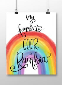 Poster created with My Favorite Rainbow printable wall art