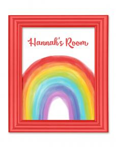 Personalized My Favorite Rainbow printable wall art