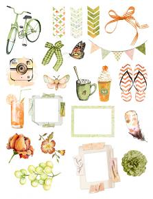 Lazy Summerdays Collection Sheet 1 by Aftermidnight Design