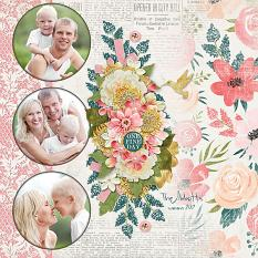 """""""The Abbots"""" digital scrapbook layout by Judy Webster"""