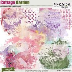 Cottage Garden Embellishment Mini Transfer