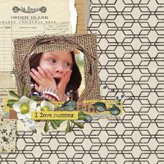 layout using Value Pack: Botany Summer by Florju Designs