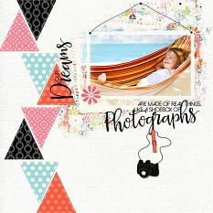 Scrapbook page using On A Whim clip art by Judy Webster