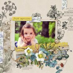 layout using Botany Summer Embellishment Biggie by Florju Designs