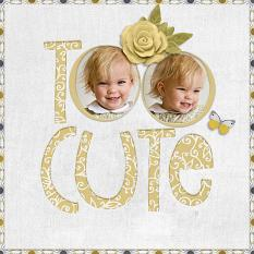 """Too Cute"" digital scrapbook layout by Geraldine Touitou"
