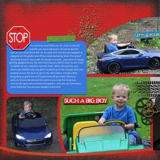 """Lil' Driver"" digital scrapbook layout features SSDLAT: Scrap It Monthly 4 Series 2"