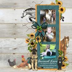 Layout by Angela Blanchard using Henhouse Collection Mini