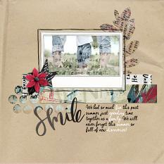 scrapbook page made with Shape Up digital layout templates
