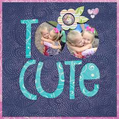 """Too Cute"" digital scrapbook layout by Shannon Trombley"