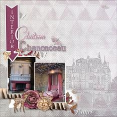 """Chateau Chenonceau"" digital scrapbook layout by Marie Hoorne"