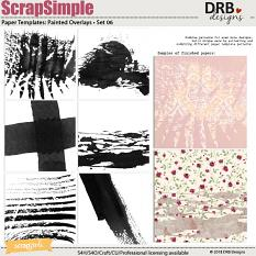 ScrapSimple Paper Template: Painted Overlays • Set 06