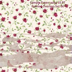 Sample Paper using ScrapSimple Paper Templates: Painted Overlays • Set 06