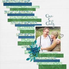"""One & Only"" digital scrapbook layout by Judy Webster"