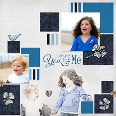 """Just You & Me"" digital scrapbook layout by Geraldine Touitou"