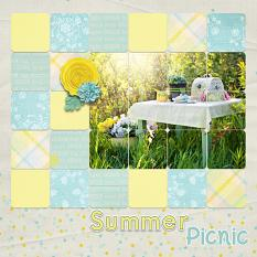 """Summer Picnic"" digital scrapbook layout by Carmel Munro"