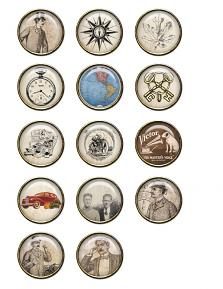 Father´s Day Collection Biggie Buttons by Aftermidnight Design