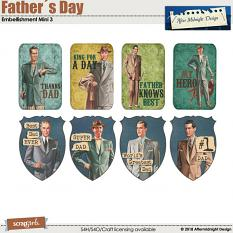 Father´s Day Embellishment Mini 3 by Aftermidnight Design