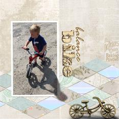 """Balance"" digital scrapbook layout by Debby Leonard"