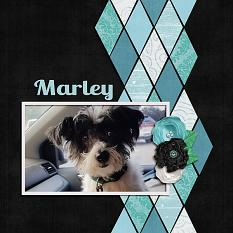 """Marley"" digital scrapbook layout by Shauna Trueblood"