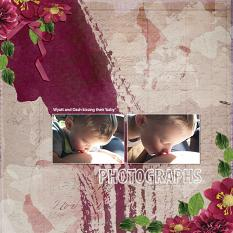 """Photographs"" digital scrapbook layout by Andrea Hutton"