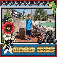 Golf Fun Digital Scrapbook Layout by Laura Louie