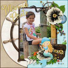 Mermaid Pirate digital scrapbook by Laura Louie