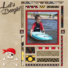 Lets Boogie digital scrapbook layout by Laura Louie