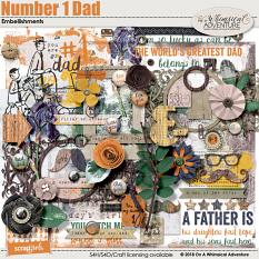 Number 1 Dad Embellishments by On A Whimsical Adventure