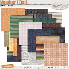 Number 1 Dad Patterned Papers by On A Whimsical Adventure