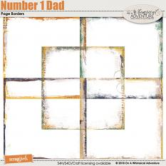 Number 1 Dad Page Borders by On A Whimsical Adventure