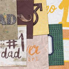 Number 1 Dad Journal Cards by On A Whimsical Adventure