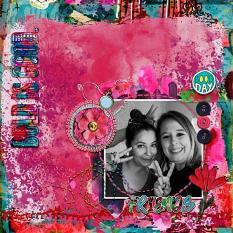 Art Journal Layout with Bold-N-Beautiful Collection