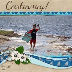 Castaway digital scrapbook layout by Laura Louie