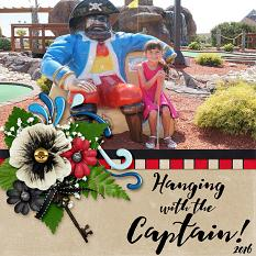 Hanging with the Captain digital scrapbook layout by Laura Louie