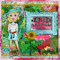 Art Journal Layout with Bold-N-Beautiful Collection and Brush Set: Bold-N-Beautiful