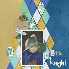 """My Little Knight"" digital scrapbook layout by Marie Hoorne"