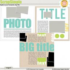 Big Titles digital layout templates
