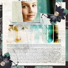 Scrapbook page created with Big Titles digital layout templates