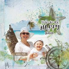 layout using Ocean Treasure Accent , Color Stamp by florju designs