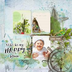 layout using Pocket Life : Ocean Treasure Journal Cards by florju designs