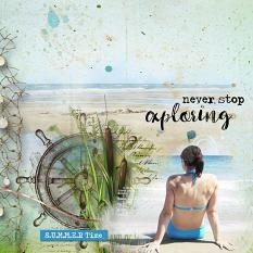 layout using ScrapSimple Embellishment template: Ocean Treasure Clipping Mask by florju designs