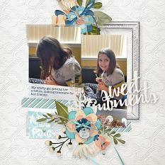 Digital Scrapbooking Layout by Amanda Fraijo-Tobin \ AFT Designs using Embossed White backgrounds