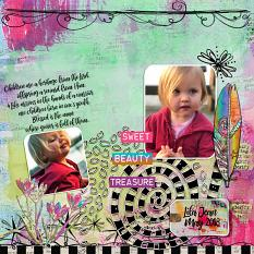 Layout using Be Ye Glad Faith Journal Collection
