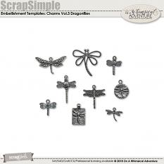 CU Charms Vol3 Dragonflies by On A Whimsical Adventure