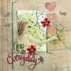 Scrapbook page created with In Stitches Layout Templates