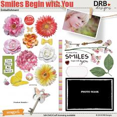 Smiles Begin with You Embellishment by DRB Designs | ScrapGirls.com