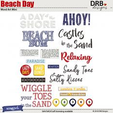 Beach Day Word Art by DRB Designs | ScrapGirls.com