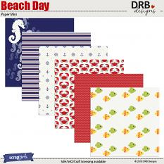 Beach Day Paper Mini by DRB Designs | ScrapGirls.com