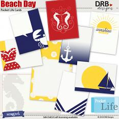 Beach Day Pocket Life Cards by DRB Designs | ScrapGirls.com