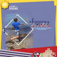 """Skipping Stones"" digital scrapbook layout by Debby Leonard"